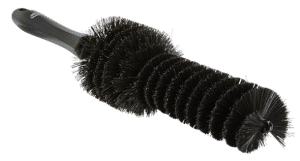 Brush for aluminum alloy wheels made of natural fibers